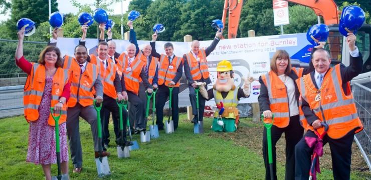 Burnley: Work begins on community station building