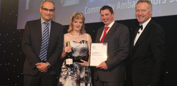 Community ambassadors win EU Rail Congress award