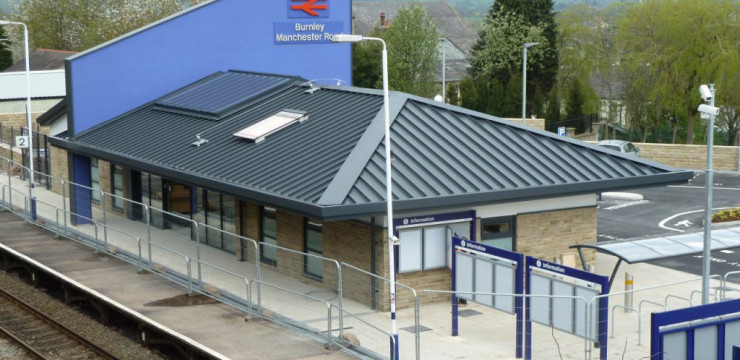 New station building at Burnley Manchester Road nears completion