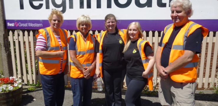 Teignmouth Station gets green revamp thanks to local volunteers