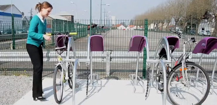 Cycle parking installed at rural French stations