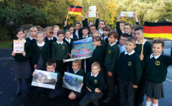 Lancashire school children prepare to visit Aachen