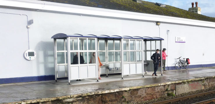 New shelters on The Riviera Line