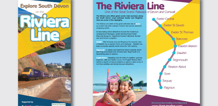 Booklet to promote the Riviera Line