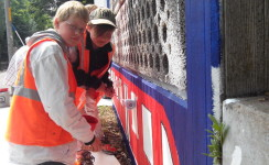 Pupils brighten up Eilendorf station